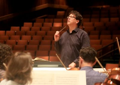 Music Director finalist Donato Cabrera during rehearsal with Reno Chamber Orchestra