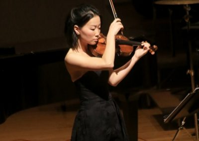 October 2019 concert: violin soloist Helen Kim performing with Reno Chamber Orchestra at Nightingale Concert Hall, UNR