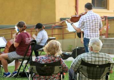 Reno Chamber Orchestra musicians wearing PPEr